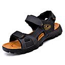 abordables Sandalias de Hombre-Hombre Cuero de Napa Verano Confort Sandalias Negro / Marrón