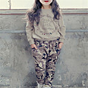 cheap Women's Athletic Shoes-Toddler Girls' Basic Solid Colored Long Sleeve Clothing Set