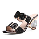 cheap Women's Sandals-Women's Synthetics Summer Comfort / Basic Pump Sandals Heterotypic Heel Gold / Black / Silver