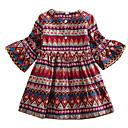 tanie Sukienki dla dziewczynek-Dzieci Dla dziewczynek Aktywny Pled Długi rękaw Sukienka / Bawełna