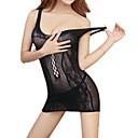 povoljno Ogrtači i odjeća za spavanje-Žene Mrežica Super seksi Odijelo Noćno rublje Žakard Crn One-Size / S naramenicama