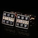 cheap Ballroom Dance Wear-Geometric Golden Cufflinks Copper / Alloy Basic / Fashion Men's Costume Jewelry For Party / Gift