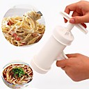 cheap Cookware-Cylinder Manual Noodles Press Machine Spaghetti Maker with 2 Moulds