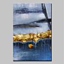 povoljno Apstraktno slikarstvo-Hang oslikana uljanim bojama Ručno oslikana - Sažetak Pejzaž Moderna Uključi Unutarnji okvir / Prošireni platno