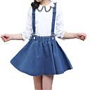 povoljno Kompletići za djevojčice-Djeca Djevojčice Ulični šik / Punk & Gotika Dnevno / Izlasci Jednobojni Print Dugih rukava Pamuk / Poliester Komplet odjeće Plava