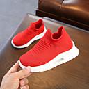 זול נעלי ילדות-בנות נעליים סריגה / PU אביב קיץ נוחות נעלי אתלטיקה הליכה ל מתבגר לבן / שחור / אדום