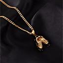 billige Herrekjeder-Dame Anheng Halskjede Kjedehalskjeder Kubansk Link Mini Sko damer Stilfull Europeisk Hip-hop Rustfritt stål Gull Sølv 60 cm Halskjeder Smykker 1pc Til Gave Ut på byen