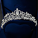 cheap Party Headpieces-Women's Formal Elegant Rhinestone Silver Plated Alloy Cubic Zirconia Tiaras Forehead Crown