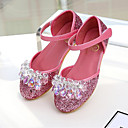 ieftine Pantofi Fetițe-Fete Pantofi PU Primavara vara Pantofi Fata cu Flori Pantofi Flați Cristal / Paiete pentru Copii Argintiu / Albastru / Roz