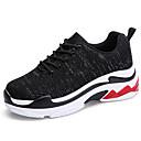 זול מוקסינים לנשים-בגדי ריקוד נשים נעליים בד גמיש סתיו חורף נוחות נעלי אתלטיקה ריצה שטוח לבן / שחור / אדום