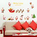 billige Vægklistermærker-Dekorative Mur Klistermærker - Folk Wall Stickers Jul Stue / Soveværelse / Badeværelse
