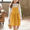 tanie Zestawy ubrań dla dziewczynek-Dzieci Dla dziewczynek Aktywny / Moda miejska Wyjściowe Prążki Koronka Długi rękaw Komplet odzieży