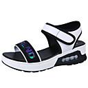 ieftine Sandale de Damă-Pentru femei PU Vară Pantof cu Berete Sandale Creepers Alb / Negru / Slogan