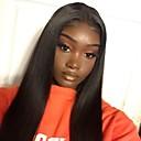 זול פיאות תחרה משיער אנושי-שיער ראמי ללא דבק, תחרה מלאה פאה בסגנון שיער ברזיאלי ישר חום טבע שחור פאה 130% צפיפות שיער 8-24 אִינְטשׁ עם שיער בייבי שיער טבעי 100% קשירה ידנית טרום מרוט חום טבע שחור בגדי ריקוד נשים קצר בינוני ארוך