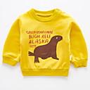 ieftine Băieți & Copil Hoodies & Bluze-Bebelus Băieți De Bază Imprimeu Manșon Lung Hanorac / Copil