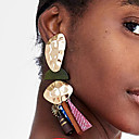 cheap Rings-Women's Mismatched / Hollow Drop Earrings - Resin Spike Simple, European, Trendy Brown / Red / Blue For Street / Professional