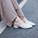 preiswerte Damen Sandalen-Damen Schuhe Leder Frühling Sommer Pumps Cloggs & Pantoletten Blockabsatz Spitze Zehe Beige / Blau / Rosa