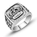 cheap Historical & Vintage Costumes-Men's Sculpture Ring - Crown Vintage, European, Trendy 7 / 8 / 9 Silver For Daily / Festival