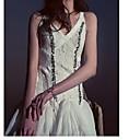 זול צמיד אופנתי-מעל הברך שמלה גזרת A בסיסי בגדי ריקוד נשים