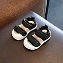 זול סטים של ביגוד לבנים-בנים / בנות נעליים סינטטיים קיץ צעדים ראשונים סנדלים סקוטש ל תינוק שחור / אפור / אדום