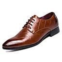 tanie Oksfordki męskie-Męskie Komfortowe buty Świńska skóra Jesień Oksfordki Czarny / brązowy