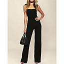 cheap Car Organizers-women's going out jumpsuit - solid colored wide leg strap