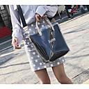 ieftine Seturi Genți-Pentru femei Genți PVC Umăr Bag Solid Negru / Roz Îmbujorat / Galben