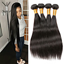 cheap Unprocessed Hair-Remy Human Hair Hair weave Best Quality / New Arrival / Hot Sale Straight Peruvian Hair Mid Length 400 g 1 Year Dailywear / Wedding Party / Quinceañera & Sweet Sixteen