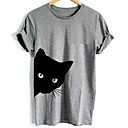 cheap Rings-Men's Basic T-shirt - Solid Colored / Animal Round Neck / Short Sleeve