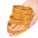 cheap Shoulder Bags-Women's Classic Hollow Out Bracelet Bangles Cuff Bracelet - Gold Plated Creative Luxury, Ethnic Bracelet Yellow For Party Gift / 4pcs