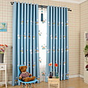 cheap Robots-Kids Curtains Kids Room Geometric / Cartoon Cotton / Polyester Printed