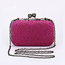 cheap Party Headpieces-Women's Bags Polyester / Corduroy Evening Bag Glitter / Solid Fuchsia / Sky Blue / Royal Blue