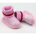 ieftine Pantofi Fetițe-Fete Pantofi Sintetice Iarnă Confortabili / Cizme de Zăpadă Cizme pentru Negru / Mov / Roz