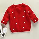 ieftine Pantofi Băieți-Copii Fete De Bază Crăciun Mată Manșon Lung Poliester Sfeter & Cardigan Alb 100