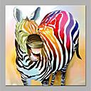 olcso Állatos festmények-Hang festett olajfestmény Kézzel festett - Pop-művészet Modern Anélkül, belső keret / Hengerelt vászon