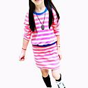 זול שמלות לבנות-שמלה שרוול ארוך אחיד בסיסי בנות ילדים