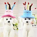 billige Hundeklær-Mus & rotter / Hunder / Katter Dekorasjon / Hodetørklær og hatter Hundeklær Prinsesse / Jul Blå / Rosa Plysj-stoff Kostume For kjæledyr Dame Hodevarmere / Hodeplagger