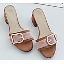ieftine Sandale de Damă-Pentru femei Pantofi PU Vară Confortabili / Balerini Basic Sandale Toc Îndesat Negru / Roz / Migdală