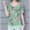 baratos Brincos-Mulheres Blusa Vintage Franjas, Sólido Preto e Vermelho