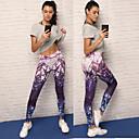 billige Løbetøj-Dame Yoga bukser - Lilla Sport Spandex Tights / Leggins Løb, Fitness, Træning Sportstøj Åndbart, Blød, Bekvem Elastisk