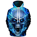 cheap Dry Bags & Boxes-Men's Plus Size Active / Exaggerated Long Sleeve Loose Hoodie - 3D / Cartoon Print Hooded Blue 4XL / Fall / Winter