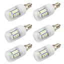 tanie Żarówki LED Bi-pin:-WeiXuan 6 szt. 4 W 350 lm E26 / E27 Żarówki LED kulki 27 Koraliki LED SMD 5730 Dekoracyjna Ciepła biel / Zimna biel 12-24 V