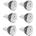 tanie Żarówki Punktowe LED-6 szt. 3 W 300 lm E14 / GU10 / GU5.3 Żarówki punktowe LED 3 Koraliki LED LED wysokiej mocy Dekoracyjna Ciepła biel / Zimna biel 85-265 V / RoHs