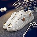 tanie Adidasy męskie-Męskie Komfortowe buty PU Jesień i zima Adidasy Biały / Czarny / Czerwony