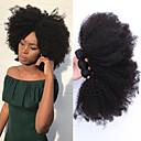 baratos Conjuntos de Bijuteria-3 pacotes Cabelo Mongol Afro Kinky Cabelo Humano Um Pacote de Solução / Tecer 10-26 polegada Tramas de cabelo humano Extensões de cabelo humano Todos