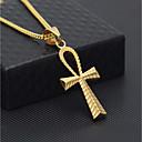 povoljno Modne ogrlice-Muškarci Kubanska veza Ogrlice s privjeskom / Lančići - nehrđajući Kereszt Stilski, Europska, Hip-hop Cool Zlato 60 cm Ogrlice Jewelry 1pc Za Dar, Ulica