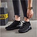 abordables Murales-Mujer Zapatos Malla Primavera / Verano Confort Zapatillas de Atletismo Tacón Plano Punta cerrada Blanco / Negro