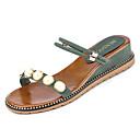 ieftine Sandale de Damă-Pentru femei PU Vară Pantof cu Berete Sandale Toc Platformă Vârf rotund Ținte Negru / Bej / Verde