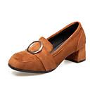 ieftine Sandale de Damă-Pentru femei Pantofi PU Primăvară / Toamnă Confortabili / Balerini Basic Tocuri Toc Îndesat Negru / Galben / Gri Închis