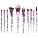 baratos Esponjas de Cosméticos-Conjunto - 10 Pincéis de maquiagem Profissional Conjuntos de pincel Fibra de Nailom Amiga-do-Ambiente / Macio Plástico